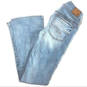 American Eagle Super Stretch Kick Boot Jeans Sz 2